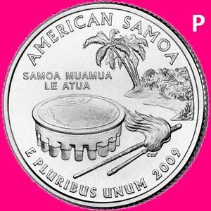 2009 COMPLETE P 6 Quarter Set DC /& US TERRITORIES Lot ~ 6 Unc Philadelphia Coins