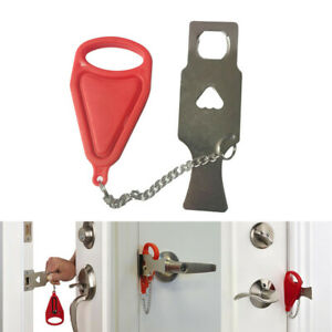 Image Is Loading Temporary Portable Door Lock For Traveling Alone Safety