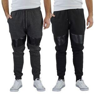 Brave-Soul-Sean-pour-homme-de-survetement-Slim-Motard-Panneau-Detail-Decontracte-Pantalon-Pantalon