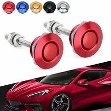 Universal Push Button Quick Release Car Hood Bonnet Pins Lock Clip Bumper Latch
