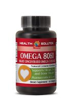 Omega 3 Fish Oil - Omega 8060 Eye Health Product Of Norway 1 Bottle