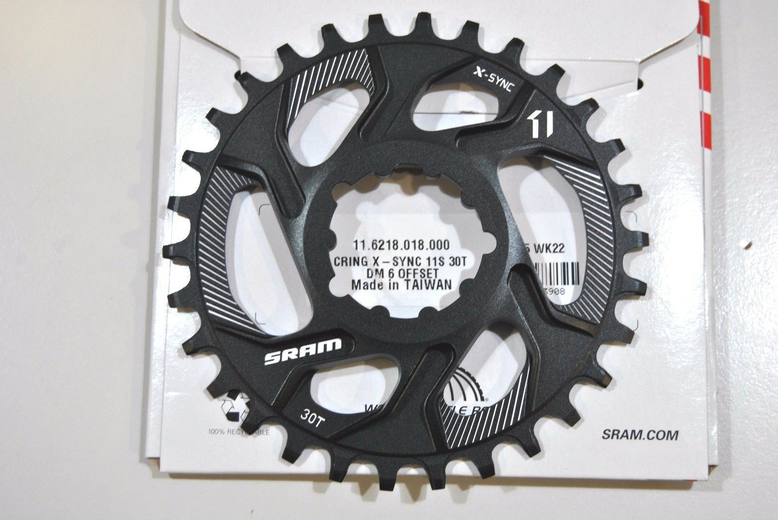 Cgoldna TRUVATIV SRAM 30T Denti X Direct-Mount 6 Offset 1x11Speed CHAINRING SRAM