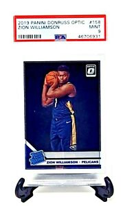 2019-Optic-Pelicans-RC-Star-ZION-WILLIAMSON-Rookie-Basketball-Card-PSA-9-MINT