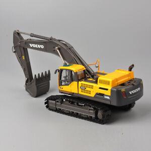 Diecast-1-50-Scale-VOLVO-EC4800-Yellow-Crawler-Excavator-Model-Alloy-ABS-Toy