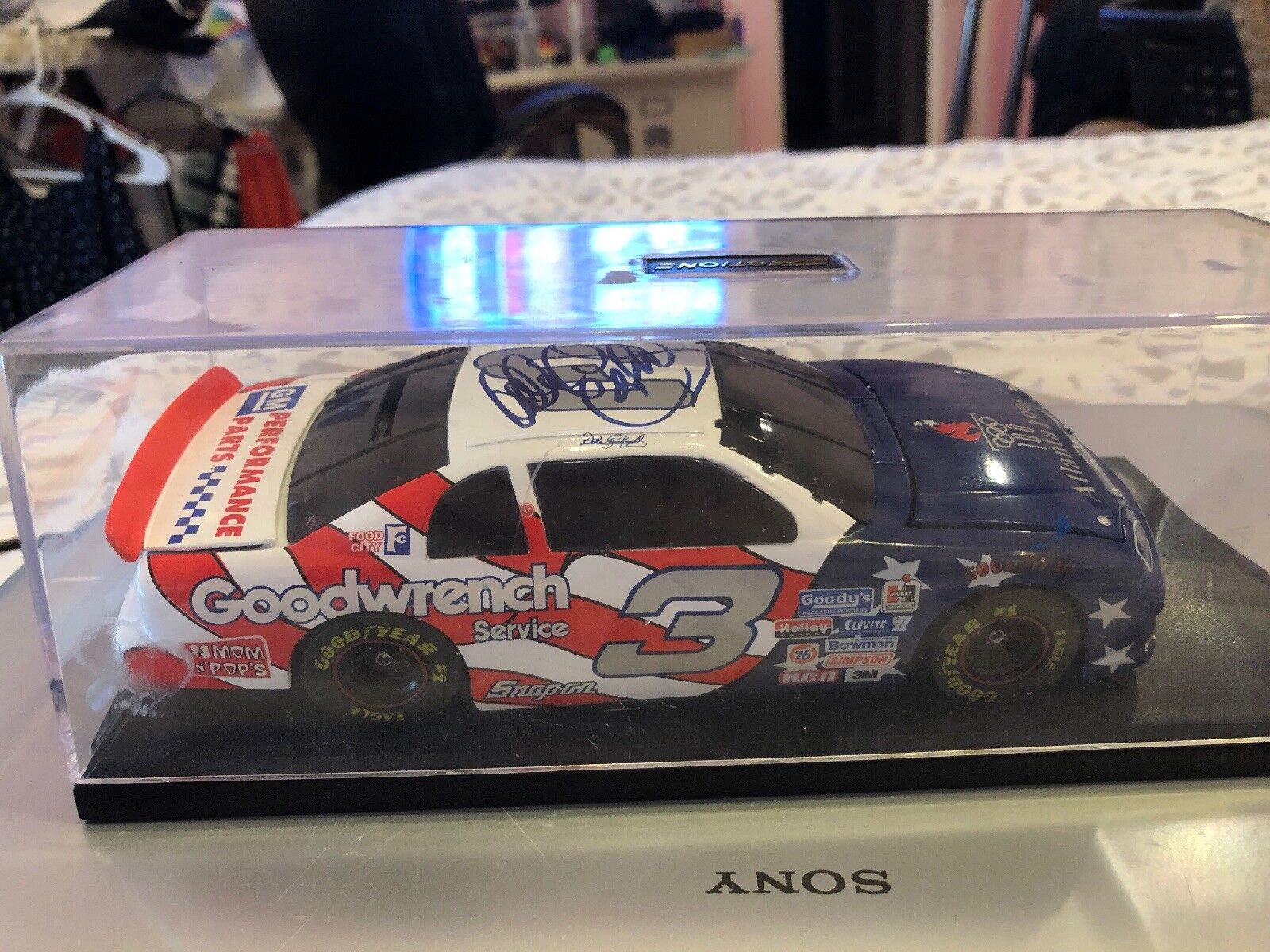 Nascar Diecast Car No3 Signed By Dale Earnheart SR 1996 Atlanta Olympic Edition