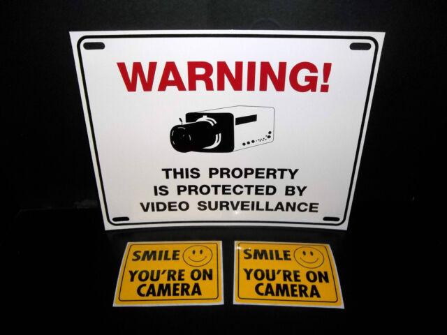 LOTTO di Impermeabile Telecamera Sicurezza Avvertimento Segno + finestra ATM Adesivi Decalcomanie