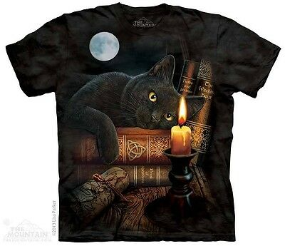 THE MOUNTAIN THE WITCHING HOUR BLACK CAT MAGIC FANTASY  T TEE SHIRT S-5XL