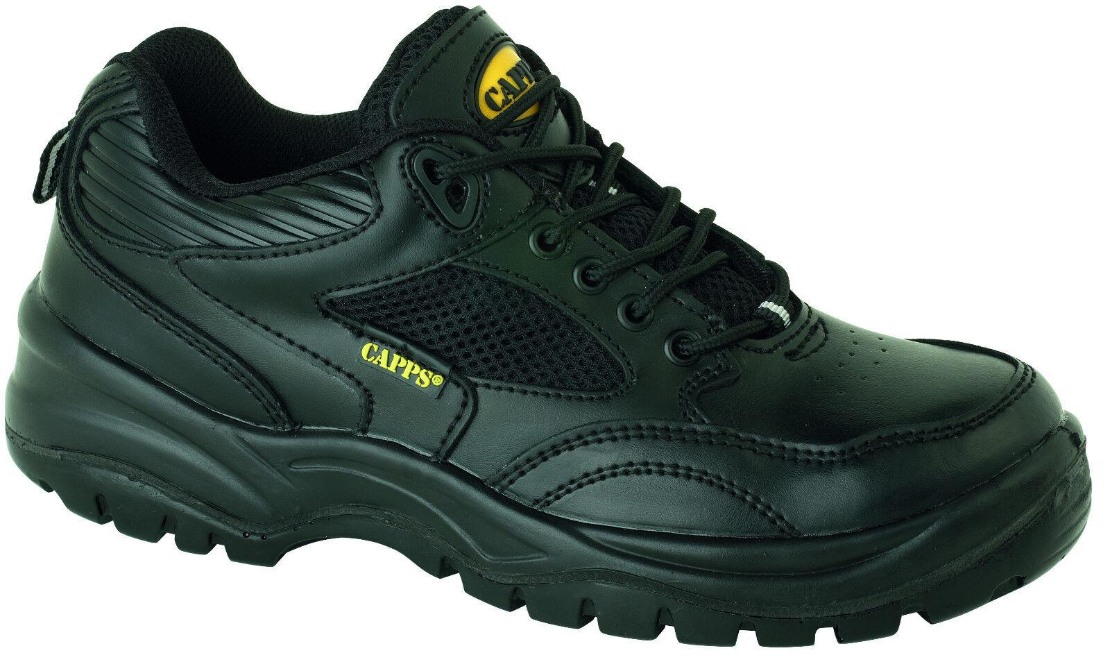 Capps lh517 S1 Negro Para Hombre Puntera Composite zapatos de trabajo de la seguridad de los formadores de calzado