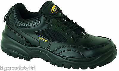 Capps LH517 S1 Black Mens Composite Toe Cap Work Shoes Safety Trainers Footwear