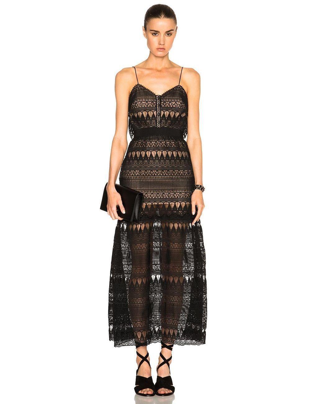 SELF PORTRAIT Full Teardrop Guipure Patterned Dress Size RRP