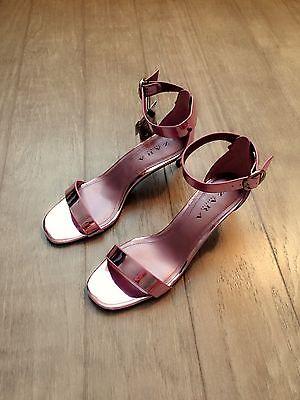 ZARA Women's Mid Heel Sandal with Buckle(Mauve, US 8/EUR 39)