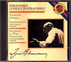 Igor STRAVINSKY Conducts Symphony in C Three Movements of Psalms CD CBS