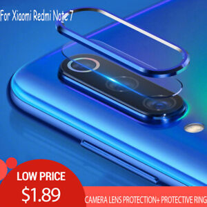 For-Xiaomi-Redmi-Note-7-Camera-Lens-Screen-Protector-Tempered-Glass-Metal-Ring