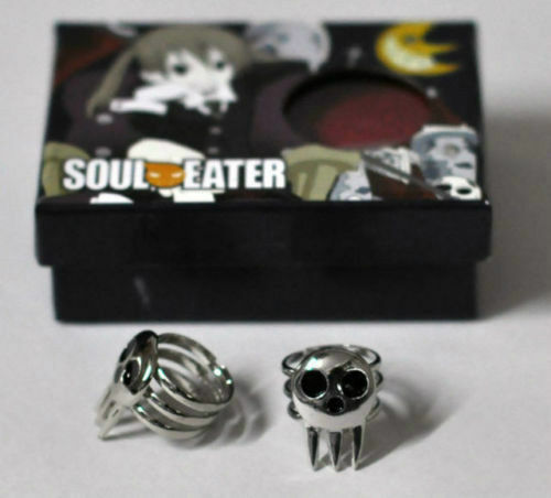 1 Pair Cosplay Ring Soul Eater Death The Kid Cosplay 2 Rings Set Silver