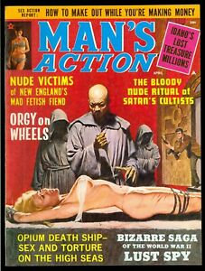 Man-039-s-Action-Pulp-Magazine-Vol-8-5-April-1969-Bondage-Very-Fine-8-5
