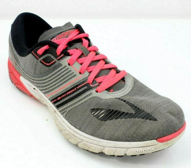 best website cadc5 7254e Brooks Pure Cadence 6 Sneaker Womens Size 9 Gray Pink Running Shoes Euro