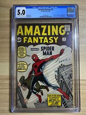 Amazing Fantasy #15 1962 Marvel 1st appearance of Spider Man CGC 5.0 Silver Age