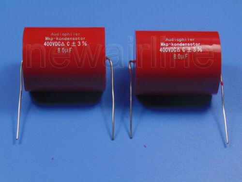 2pcs 400V 8.0uF MKP Crossover Metallized Polypropylene Non-Polarized Capacitor