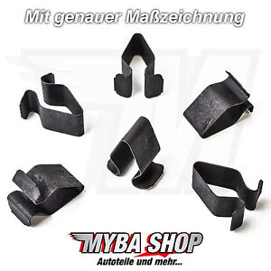 15X-Metal-Mounting-Clip-Clip-Interior-Trim-for-VW-Skoda-Seat-8L4867276
