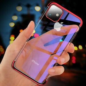 For-iPhone-11-Pro-XS-Max-X-XR-8-7-Plus-Plating-Silicone-Hybrid-Clear-Case-Cover