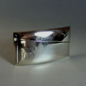 1920-039-s-Hallmarked-Sterling-Silver-Business-Card-Holder-Birmingham