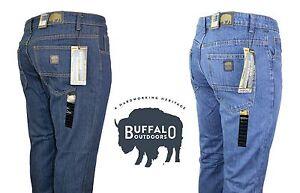 Buffalo-Outdoors-Mens-Straight-Leg-Comfort-Jeans-Basic-Work-Denim-Pants