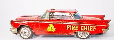 Spielzeug Geschickt Vintage Blech Reibung Japanisch Litho 1959 Buick 2-door Brandmeister Sedan Modische Und Attraktive Pakete