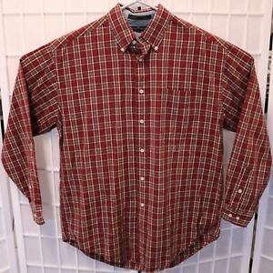 M Tommy Hilfiger Men/'s Plaid Casual Button Down Shirts Size