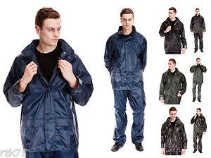 Hombre-Chaqueta-Impermeable-Corto-Impermeable-Abrigos-Chaqueta-S-XXL-Negro-Azul