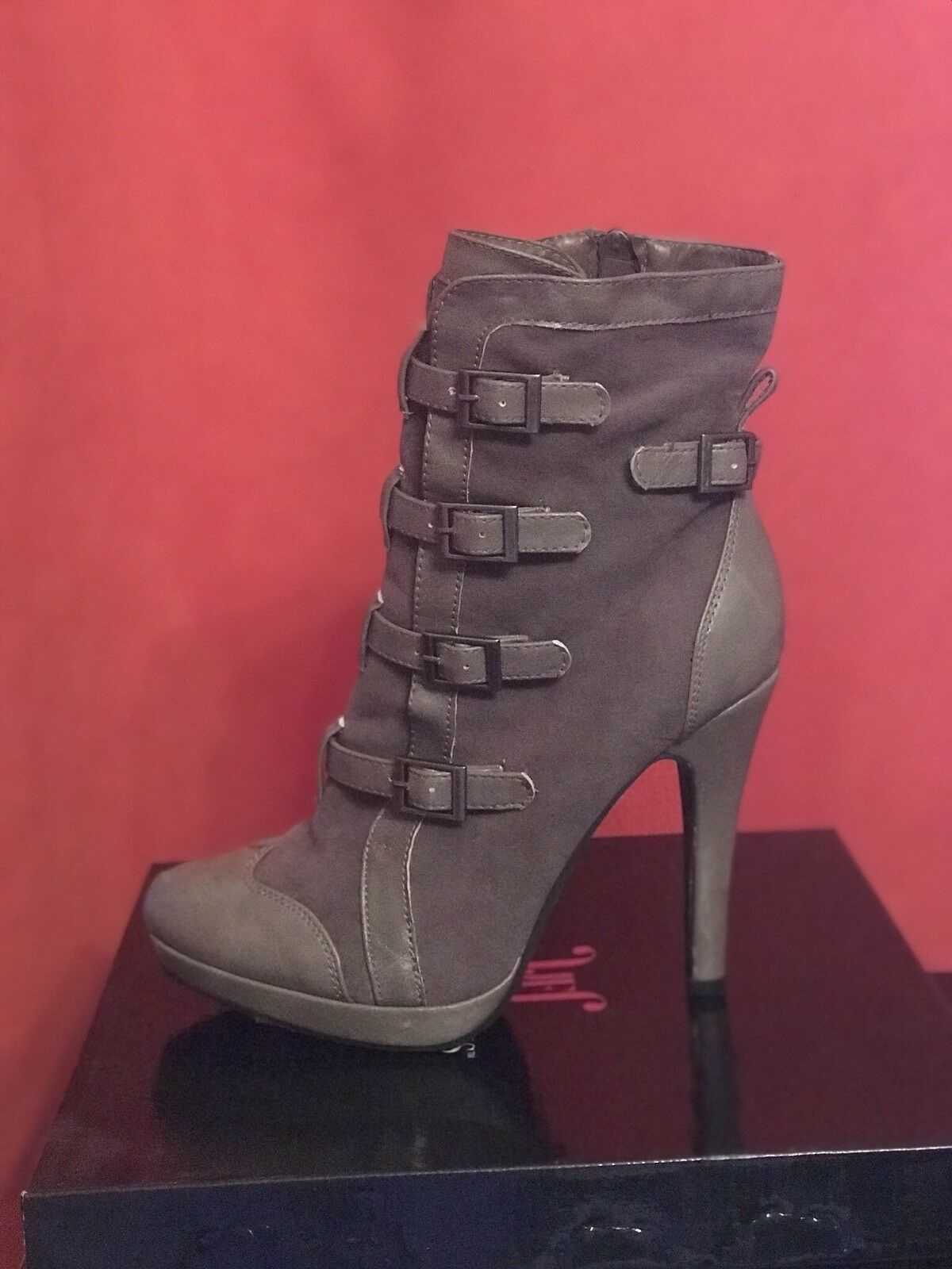 Beautiful JustFab Grey Ankle Boots