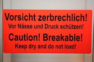 40-x-Etikett-VORSICHT-ZERBRECHLICH-deutsch-und-englisch-NEU