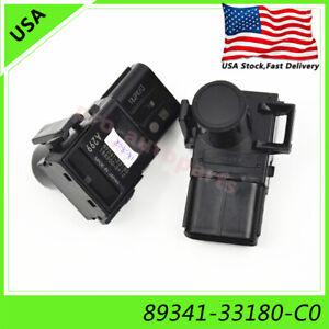 2x-89341-33180-Black-New-PDC-Parking-Sensor-corner-for-Toyota-Tundra-4-0-4-6-4-7