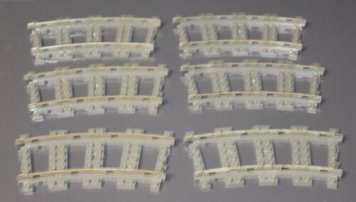 LEGO®  6 Stück 9V 9 Volt Eisenbahn Schienen gebogene kurve 2867