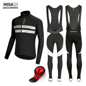 Winter-Cycling-Jersey-Pants-Set-Fleece-Thermal-MTB-Bike-Jacket-Padded-Trousers