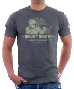 Star-Wars-inspired-Boba-Fett-amp-Son-Bounty-Hunter-Jedi-grey-t-shirt-FN9823