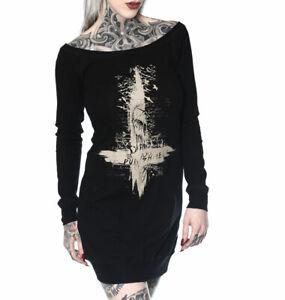 "HYRAW - Damen Kleid / Minikleid ""Black Cross"" black (schwarz)"