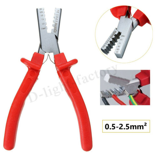 NEW 0.5-2.5mm² Mini Ferrules Tool Crimper Plier For Crimping Cable