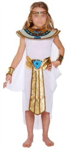 Girls Ancient Egyptian Fancy Dress Book Day Egypt Cleopatra Queen Costume Outfit