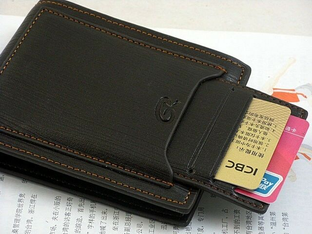 Cool Men's Genuine Cow Leather Wallet Credit Card Coin Purse Brand New Free Ship