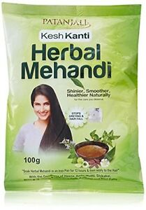 100gm Patanjali Herbal Mehandi Natural Henna Powder Hair Colour Free