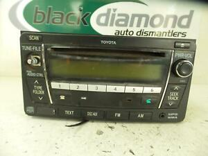 TOYOTA-HILUX-STEREO-RADIO-HEAD-UNIT-SINGLE-CD-PLAYER-P-N-ON-FACE-22815-03-05