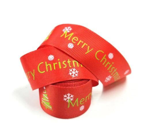 Christmas 2018 Gift Decorating Wrapping Ribbon 5 Yards 25 mm Wide Long Ribbons