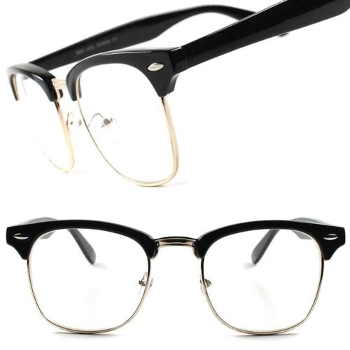 Classic Vintage Retro Fashionable Mens Womens Malcolm X Style Clear Lens Glasses