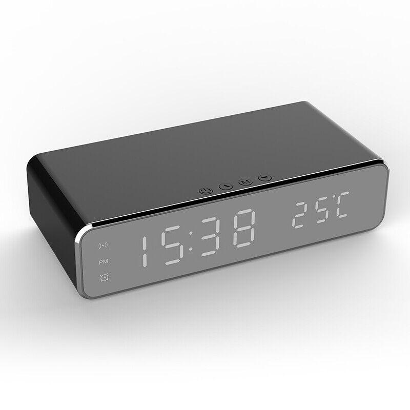 Car Home Silver Tone Digital LCD Desk Wall Clock R5J1
