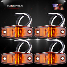 4 x LED Light 2 Diode Amber 1x2.5 surface mount Clearance Side Marker Trailer