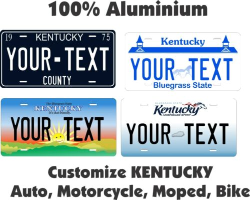 Kentucky Custom Personalized Car Motorcycle Moped Bike Bicycle License plate Tag