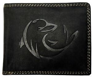 b14ee858c033c Das Bild wird geladen Hochwertige-Geldboerse-Geldbeutel-Portemonnaie-Bueffel -Wild-Leder-Delfin-