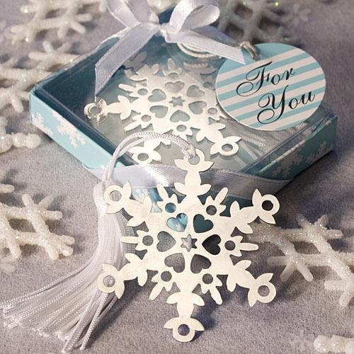 50 Snowflake Bookmark Favors wedding favors winter favor