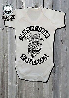 Chaleco Traje de Cuerpo Vikingos bebé crezca Shieldmaiden Regalo Viking Valhalla Baby Shower