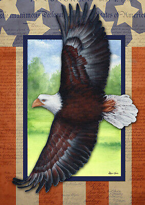 Toland Freedom Flying 28 X 40 Eagle Patriotic Independence House Flag Ebay